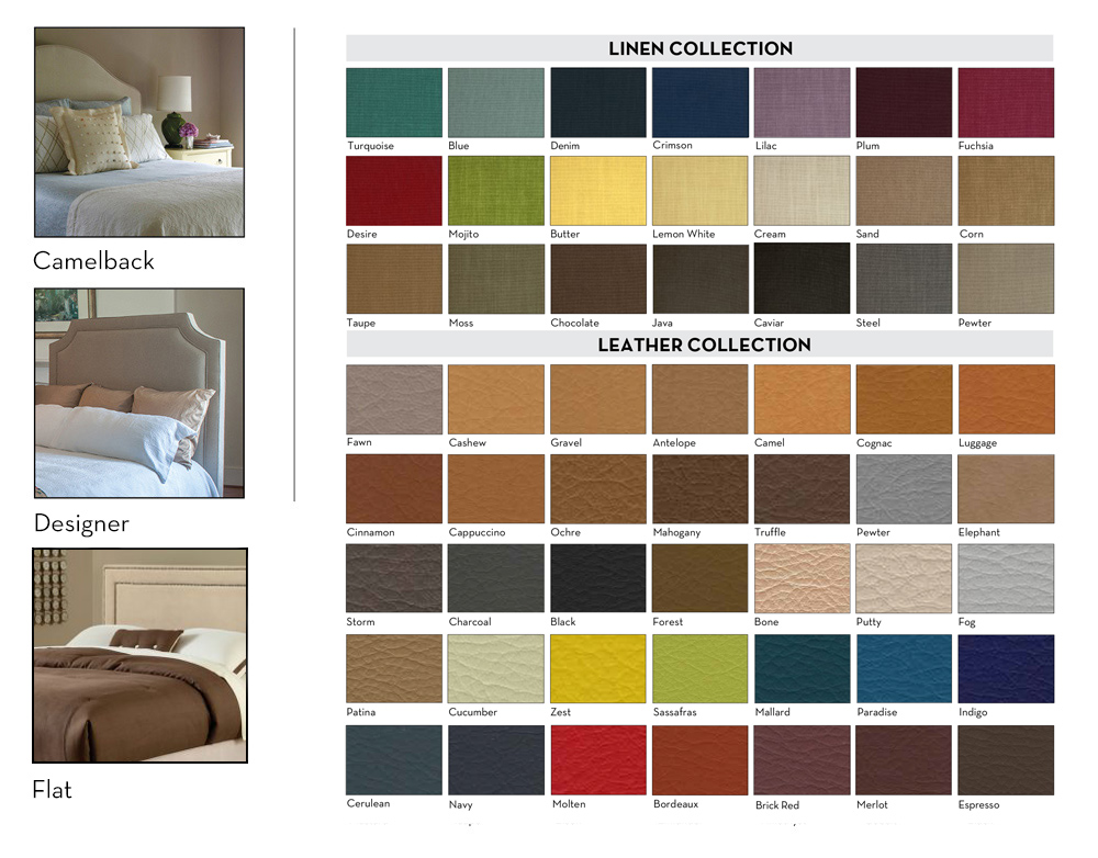 Assured Comfort Fabric Headboard Selections