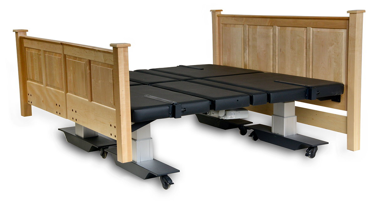 Assured Comfort Hi Low Adjustable Bed - Mobile Series - Raised Panel - Split King - Up position
