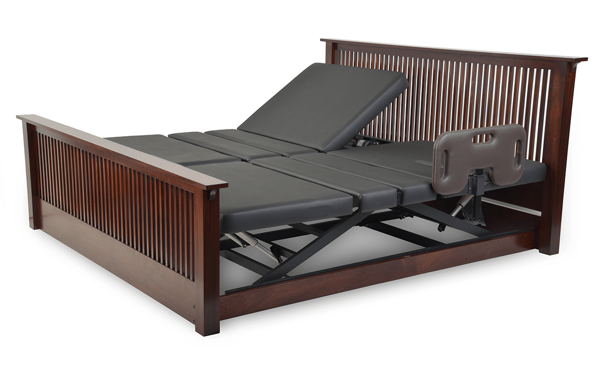 Assured Comfort Hi Low Adjustable Bed Platform Series Raised Panel - Up position