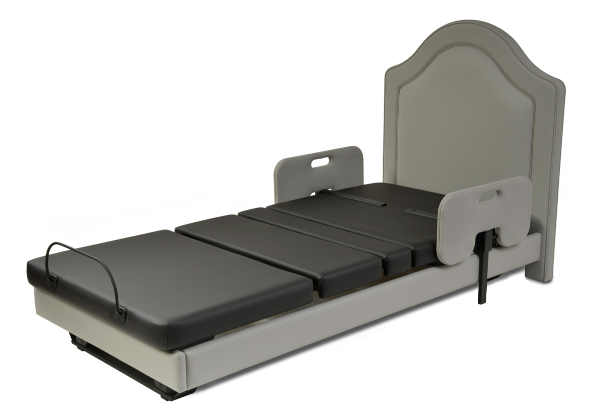 Assured Comfort Hi Low Adjustable Bed Signature Series Twin Upholstered - Down Position