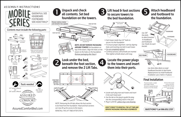 Assured Comfort Mobile Series - Assembly Instructions