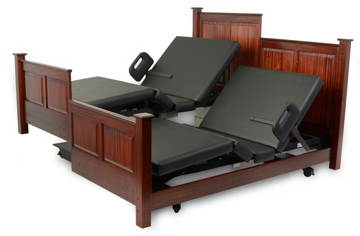 Assured Comfort Hi-Low Adjustable Bed - Mobil Series - Custom Split King that Separates - One Low - One High Articulating Position