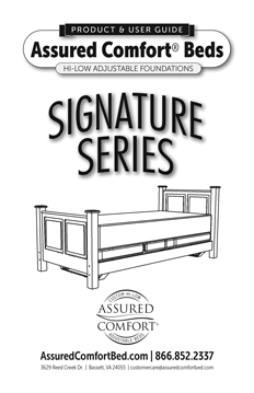 Assured Comfort® Hi-Low Adjustable Beds - Signature Series - Product Guide