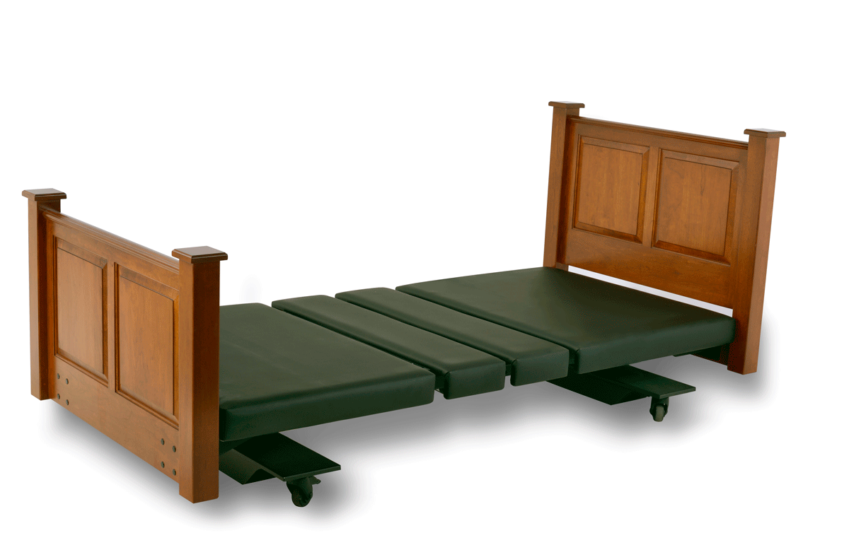 Assured Comfort Hi-Low Adjustable Bed Mobile Series with Raised Panel - Down Position