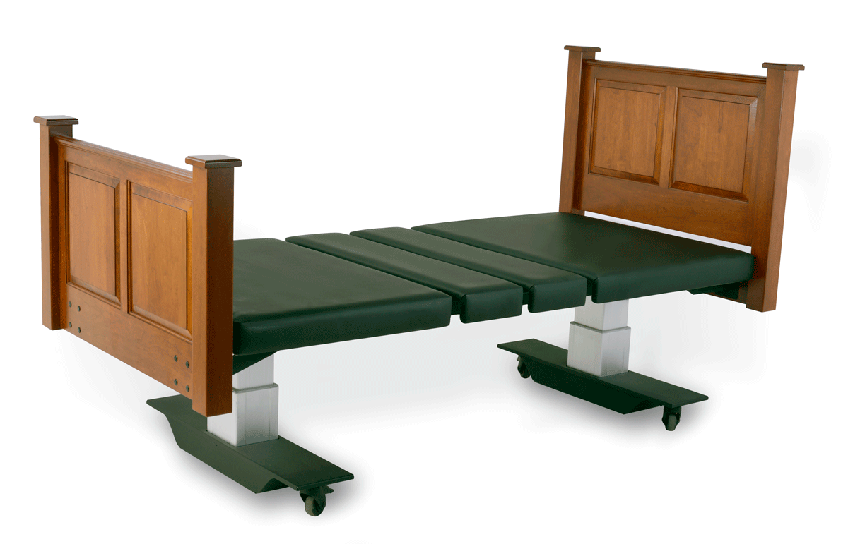 Assured Comfort Hi-Low Adjustable Bed Mobile Series with Raised Panel - Up Position